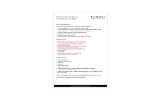 Krankenhaus-Checkliste