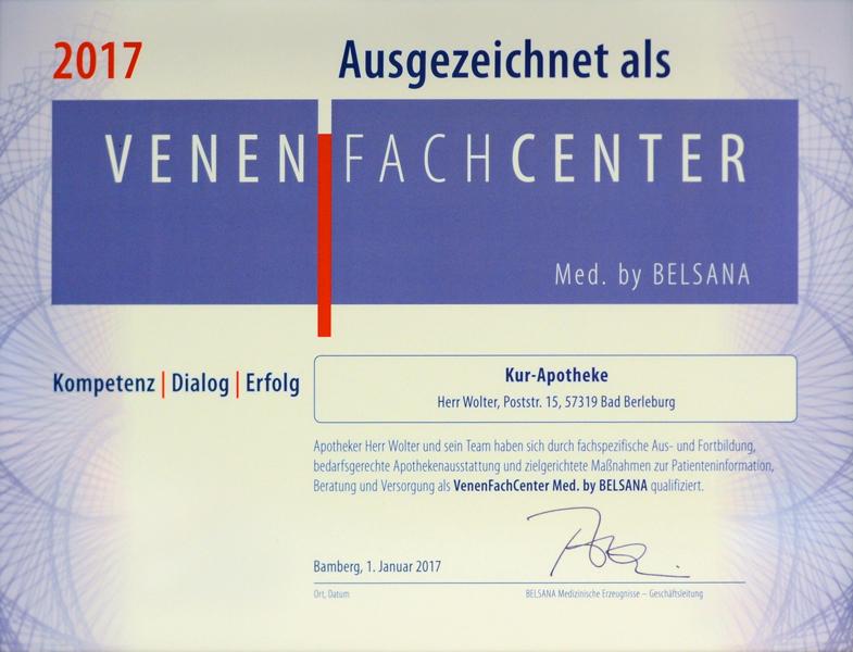 Auszeichnung-Venenfachcenter