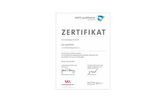 Kur Apotheke AMTS-Zertifikat